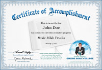 Certificate of Basic Bible Truths